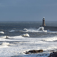 Buy canvas prints of Stormy Weather, Whitley Bay, England by Dave Collins