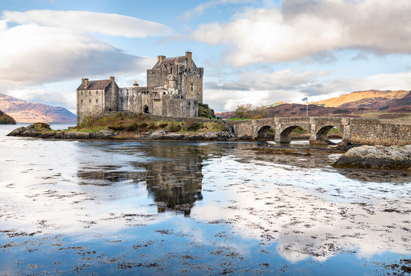 Eilean Donan Castle, Highlands, Scotland Framed Print by Dave Collins