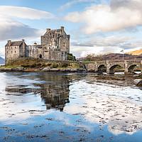 Buy canvas prints of Eilean Donan Castle, Highlands, Scotland by Dave Collins