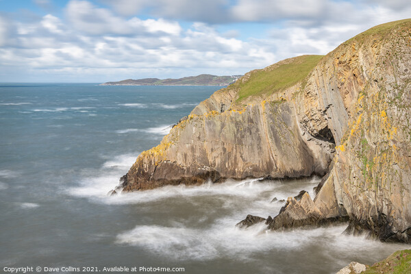 Cliffs at Baggy point, Devon, England Canvas Print by Dave Collins