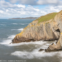Buy canvas prints of Cliffs at Baggy point, Devon, England by Dave Collins