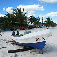 Buy canvas prints of Boat on a beach by Larisa Siverina