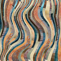 Buy canvas prints of Abstract colorful lines pattern by Larisa Siverina