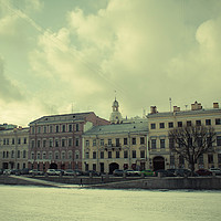 Buy canvas prints of Snowy St. Petersburg by Larisa Siverina