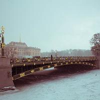 Buy canvas prints of Snowy St. Petersburg by Larisa Siverina