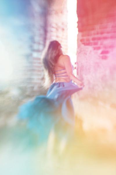 Dancing woman Acrylic by Larisa Siverina