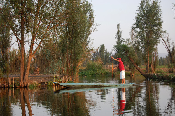 Mexican water district of Xochimilco.   Canvas print by Larisa Siverina