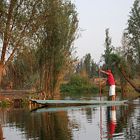 Buy canvas prints of Mexican water district of Xochimilco.   by Larisa Siverina