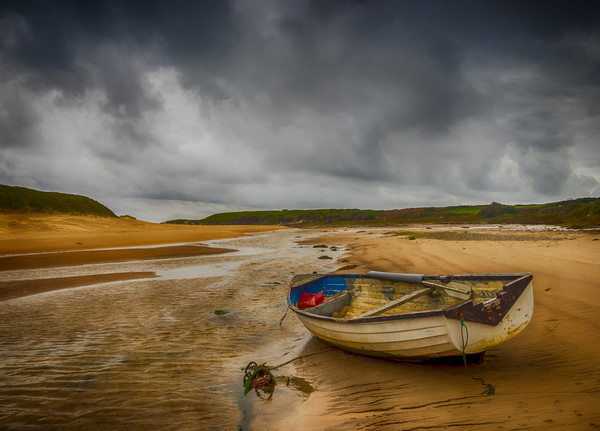 The Storm at Aberffraw. Canvas print by Colin Allen