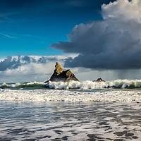 Buy canvas prints of Church Rock, Broadhaven, Pembrokeshire by Colin Allen