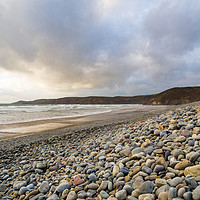 Buy canvas prints of Newgale Beach in Winter. by Colin Allen