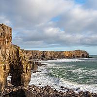 Buy canvas prints of St Govans Head, Pembrokeshire, Wales. by Colin Allen