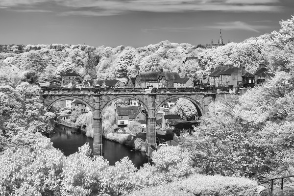Knaresborough viaduct infrared Canvas print by mike morley