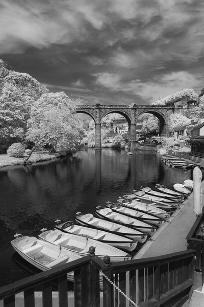 Knaresborough Viaduct  Canvas print by mike morley