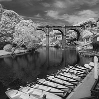 Buy canvas prints of Knaresborough Viaduct  by mike morley