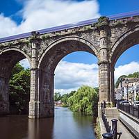 Buy canvas prints of Knaresborough Viaduct  by mike morley
