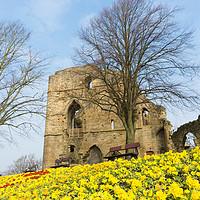 Buy canvas prints of Knaresborough Castle by mike morley