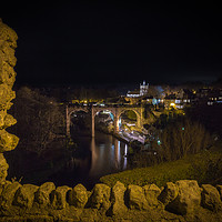 Buy canvas prints of Knaresborough Viaduct at night by mike morley