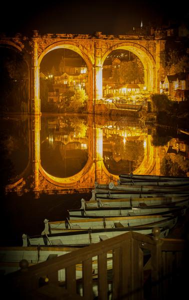 Knaresborough Viaduct  Canvas print by mike morley