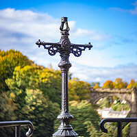 Buy canvas prints of Knaresborough Viaduct and cross North Yorkshire England by mike morley