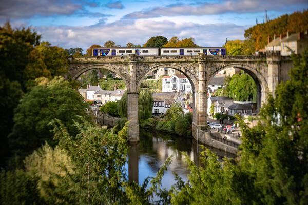 Knaresborough Viaduct North Yorkshire Canvas Print by mike morley