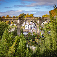 Buy canvas prints of Knaresborough Viaduct North Yorkshire by mike morley
