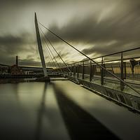 Buy canvas prints of Swansea marina The Sail bridge. by Bryn Morgan
