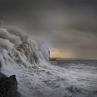Buy canvas prints of Storm Brian at Porthcawl. by Bryn Morgan