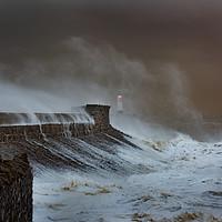 Buy canvas prints of Storm at Porthcawl. by Bryn Morgan