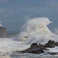 Buy canvas prints of Storm wave at Porthcawl. by Bryn Morgan