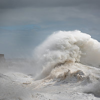 Buy canvas prints of Storm Freya at Porthcawl. by Bryn Morgan