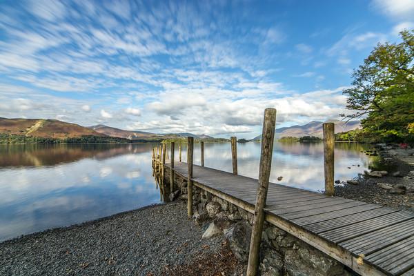 Lake District Jetty  Canvas print by Steve Lansdell
