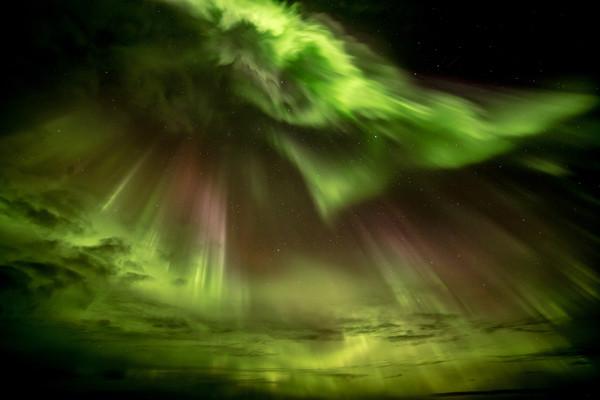 Aurora Storm  Canvas print by Steve Lansdell