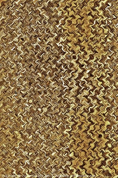 Golden Chain Link Mesh Canvas print by Vickie Fiveash