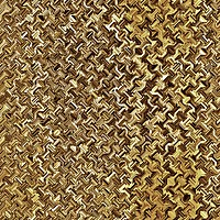 Buy canvas prints of Golden Chain Link Mesh by Vickie Fiveash