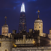 Buy canvas prints of Shard and the Tower of London by Chris Dorney