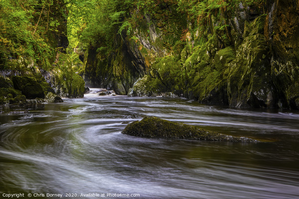The Fairy Glen in Betws-Y-Coed, Wales Canvas Print by Chris Dorney