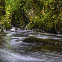Buy canvas prints of The Fairy Glen in Betws-Y-Coed, Wales by Chris Dorney