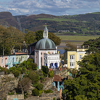 Buy canvas prints of Stunning Panoramic View of Portmeirion in North Wa by Chris Dorney