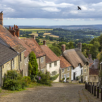 Buy canvas prints of Gold Hill in Shaftesbury in Dorset, UK by Chris Dorney