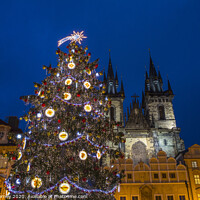 Buy canvas prints of Prague at Christmas by Chris Dorney