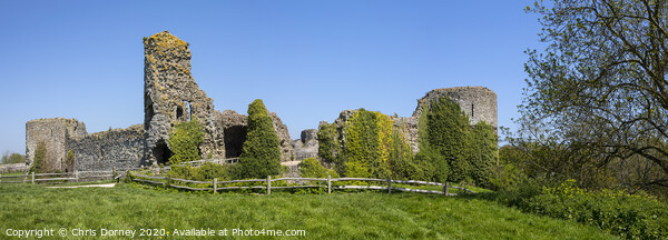 Pevensey Castle in East Sussex Canvas Print by Chris Dorney