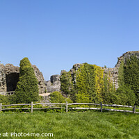 Buy canvas prints of Pevensey Castle in East Sussex by Chris Dorney