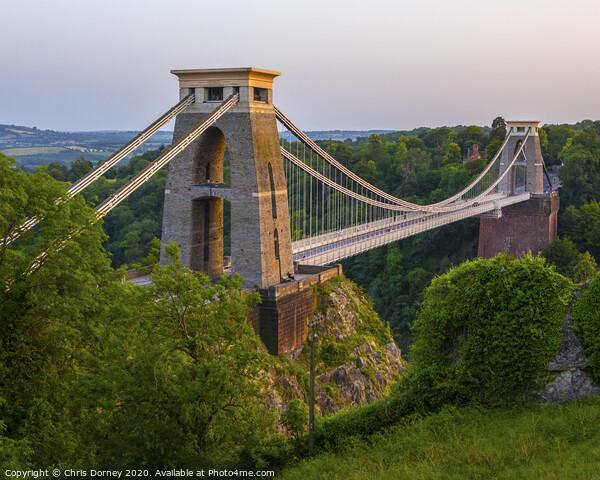 Clifton Suspension Bridge in Bristol Canvas Print by Chris Dorney