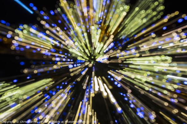 Light Effect Background Framed Mounted Print by Chris Dorney
