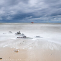 Buy canvas prints of Moody skies at Happisburgh beach Norfolk by Graeme Taplin