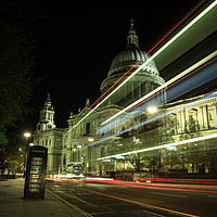 Buy canvas prints of St Paul's Cathedral At Night by Milton Cogheil