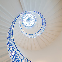 Buy canvas prints of The Tulip Spiral Stairs - Queen's House, Greenwich by Milton Cogheil