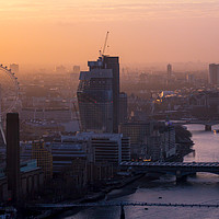 Buy canvas prints of London cityscape at sunset by Milton Cogheil