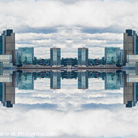 Buy canvas prints of Double mirror effect London skyline by Milton Cogheil